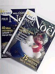 les revues <i>Je décore mon extérieur pour Noël</i>...