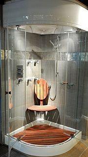Une douche tout confort....