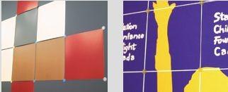 Deux types de panneaux de la compagnie montréalaise...