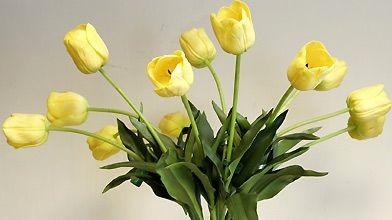 Ces tulipes en latex ont l'air vrai à... (Photo Le Soleil)
