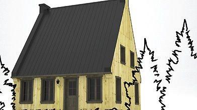Les maisons normandes possèdent un toit pentu et...
