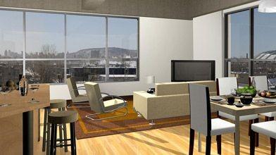 Au 3e étage, les appartements orientés vers l'ouest...