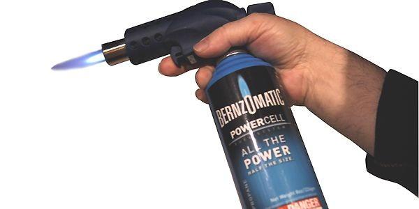 Le Powercell est constitué d'une bonbonne de propane...