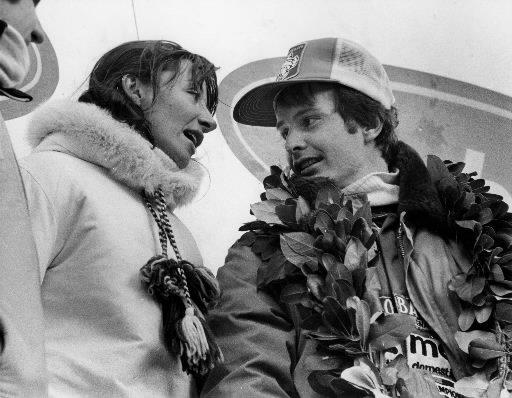 Gilles Villeneuve avec sa femme Joann après sa victoire au Grand Prix du Canada en octobre 1978. | 1 mars 2011