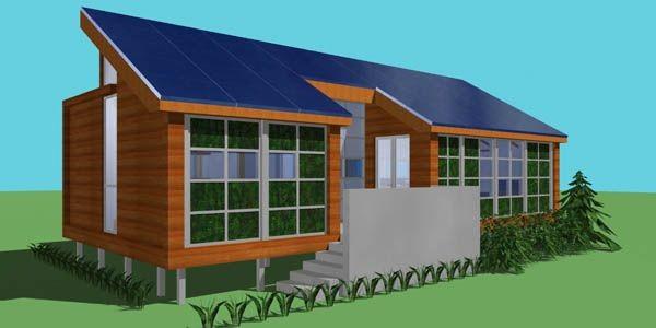 Voici la version définitive de la maison solaire... (Image fournie par Éqiuipe Montréal)