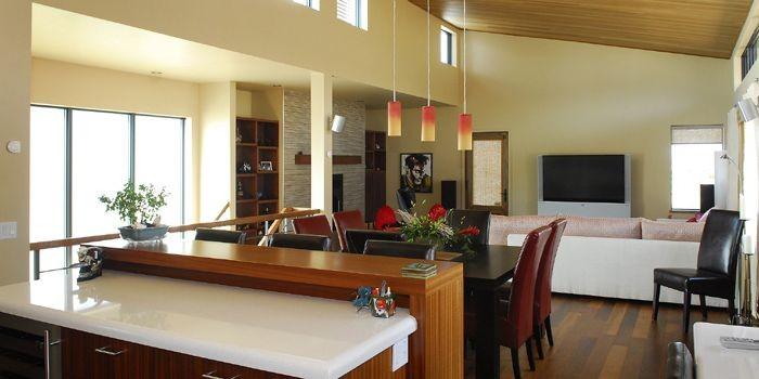 Le salon et la salle à manger. En... (Photo Patrice Laroche, Le Soleil)