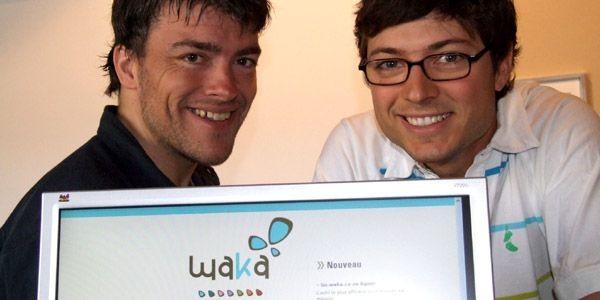 Les concepteurs et gestionnaires de go.waka, Jean-Sébastien et... (Photo fournie par Waka.ca)