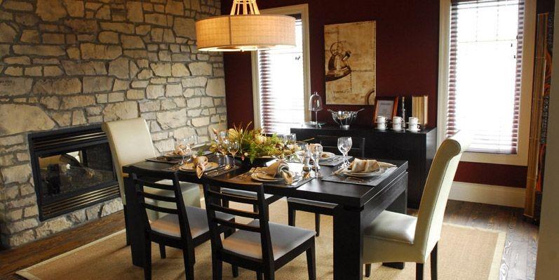 La salle à manger est d'allure contemporaine. Original,... (Photo Patrice Laroche, Le Soleil)