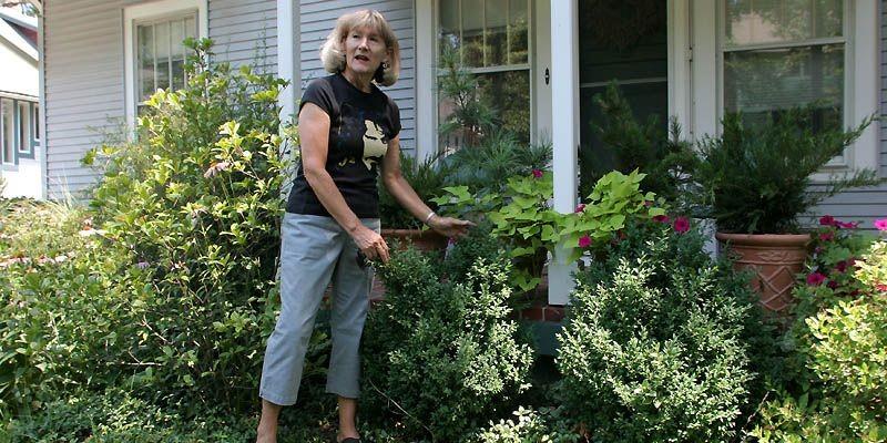 Susan Harris chez une cliente.... (Photo AFP)