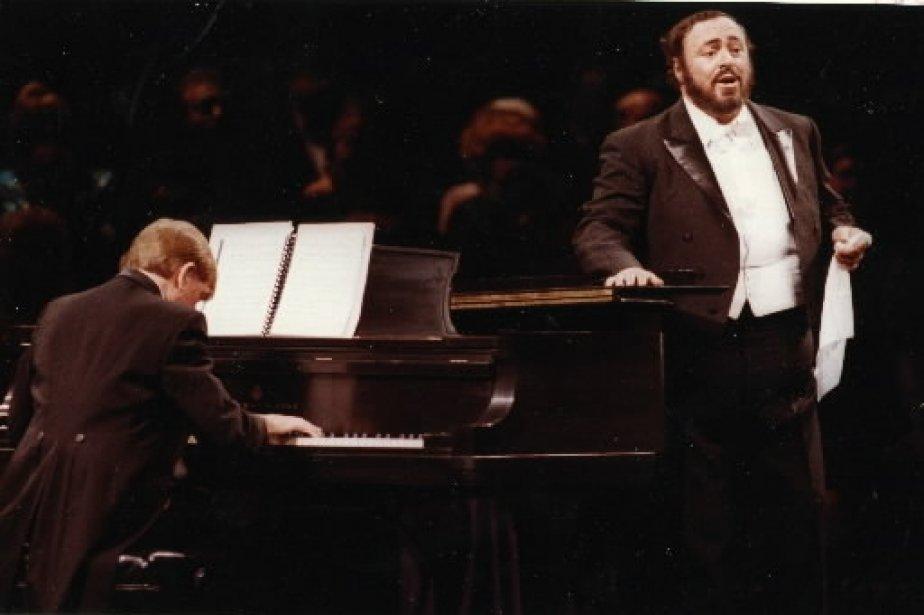 Luciano Pavarotti et son pianiste John Wustman à la salle Wilfrid-Pelletier en 1989. | 1 mars 2011