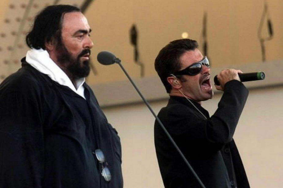 Luciano Pavarotti chante avec George Michael. | 1 mars 2011