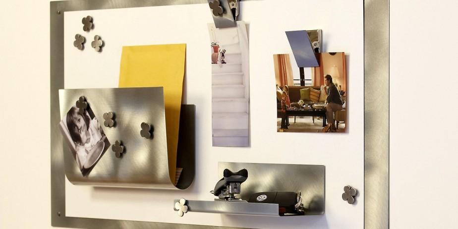Michelle Beaudoin propose des tableaux en acier industriel... (Photo fournie par Michelle Beaudoin)