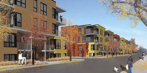 Zone C est présentement en construction rue Saint-Ambroise,... (Illustration fournie par la SHDM)