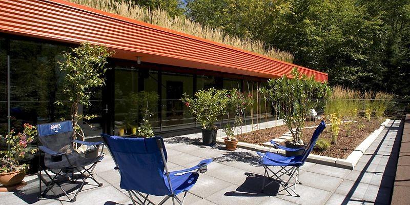 Sur le toit-terrasse accessible du deuxième étage de... (Photo Alain Roberge, La Presse)