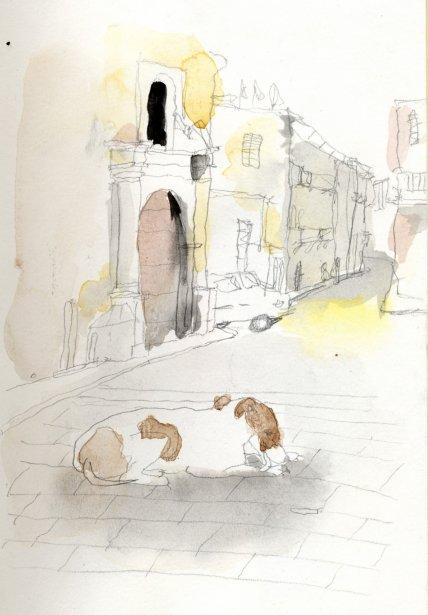 Ma mission était claire : peindre la vie à La Havane. Je m'étais dit que j'irais sketcher au gré de l'inspiration. Sous haute surveillance policière, la ville est plutôt sûre. La violence est sévèrement réprimée et le vol est rare alors je n'avais pas peur de m'installer où bon me semblait pour dessiner. | 1 mars 2011