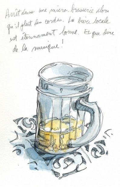 Encore la pluie. Je commande une bière dans une micro-brasserie. Étonnement, elle est très bonne et n\'a rien à envier à la nôtre. Mais d'où proviennent les céréales au pays de la canne à sucre? | 1 mars 2011