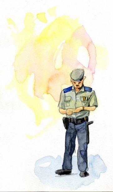 La capitale cubaine est très sûre. De nombreux policiers y veillent. Ils vérifient fréquemment les pièces d'identité des Cubains qui déambulent avec les touristes. À six reprises pendant la semaine, les Cubains qui m'accompagnaient ont été arrêtés pour une vérification de leur carte d'identité. | 1 mars 2011