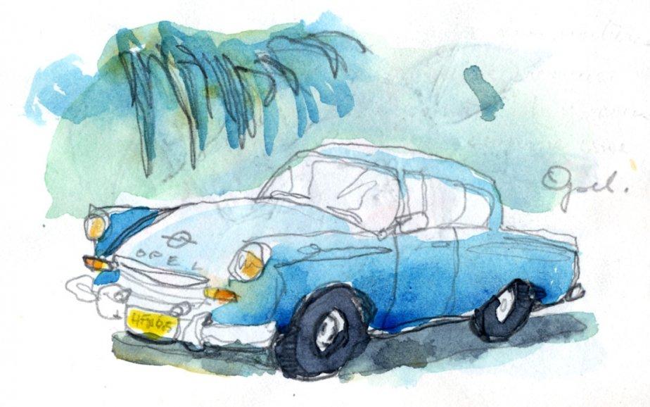 Pour voir des voitures uniques, Cuba est l'endroit tout désigné. Beaucoup de modèles provenant de l'ancien bloc communiste et des européennes pratiquement inexistants chez nous tel les Fiat et, dans ce cas, une Opel. | 1 mars 2011