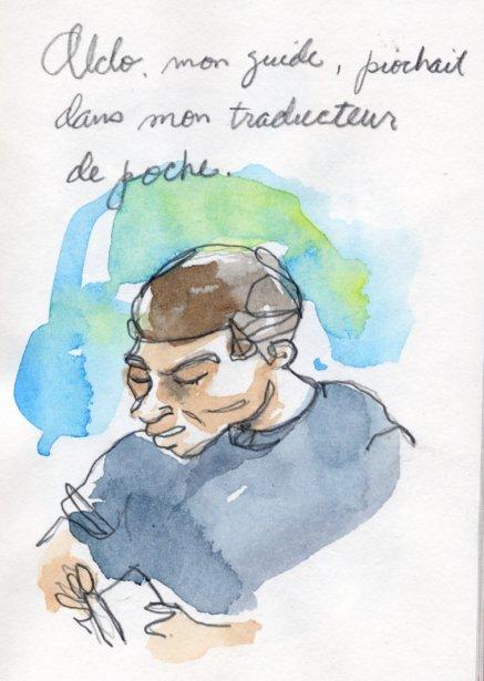 Aldo parlait mal l'anglais et moi mal l'espagnol. Il se référait constamment à mon traducteur de poche. | 1 mars 2011