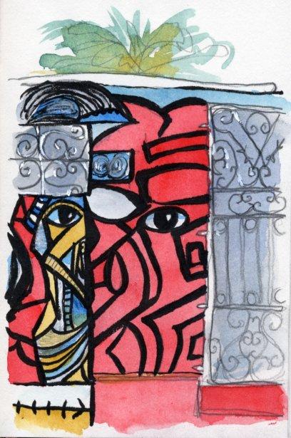 L'art de Salvador que l'on retrouve sur les murs de la Callejon de Hamel est un mélange d'art naïf et d'icônes religieux aux couleurs très vives. | 1 mars 2011