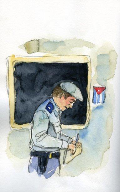 Ce policier vient de coffrer mon guide. Lui seul sait pourquoi et à quel endroit il se trouve. Je n\'ai surtout pas envie de lui demander. | 1 mars 2011