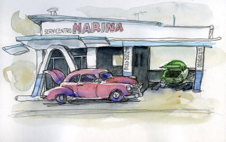 Les stations services cubaines ne sont pas en bien meilleur état que les voitures… | 1 mars 2011