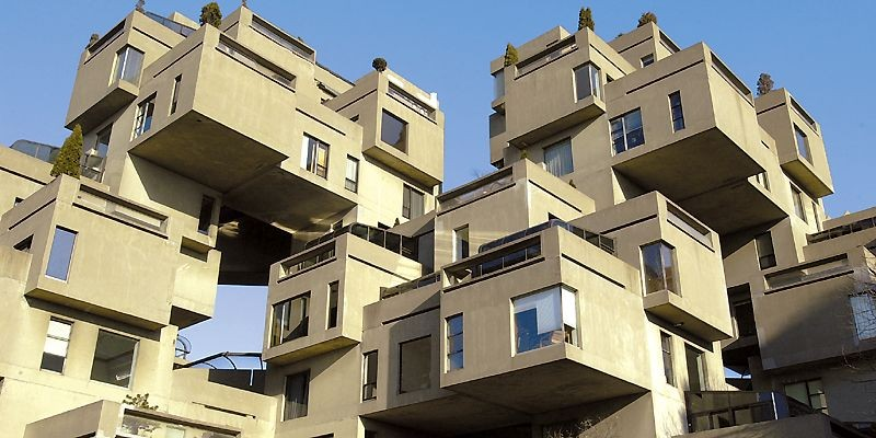 En 1961, Moshe Safdie conçoit un immeuble d'appartements... (Photo archives La Presse)
