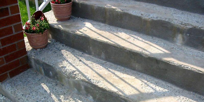 Les escaliers de béton nouvellement coulé pourraient ressembler... (Photo APCHQ)