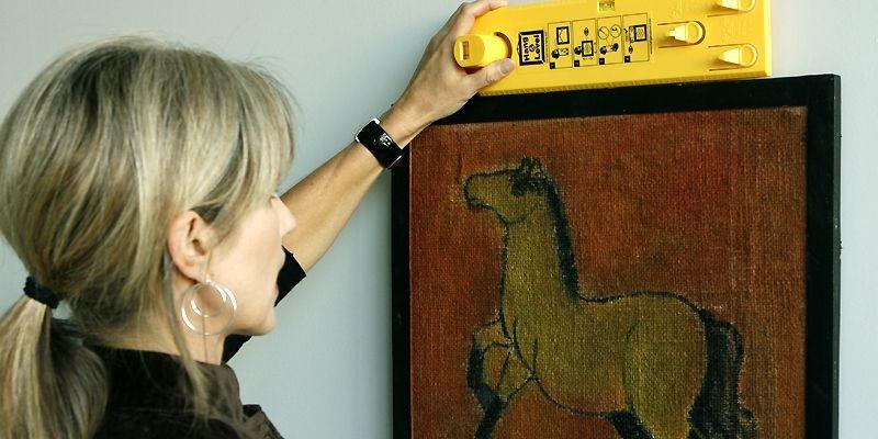 La décoratrice Liette Tousignant fait une démonstration de... (Photo Patrick Sanfaçon, La Presse)