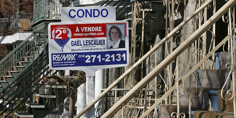 Le courtier immobilier Royal LePage... (Photo Patrick Sanfaçon, La Presse)