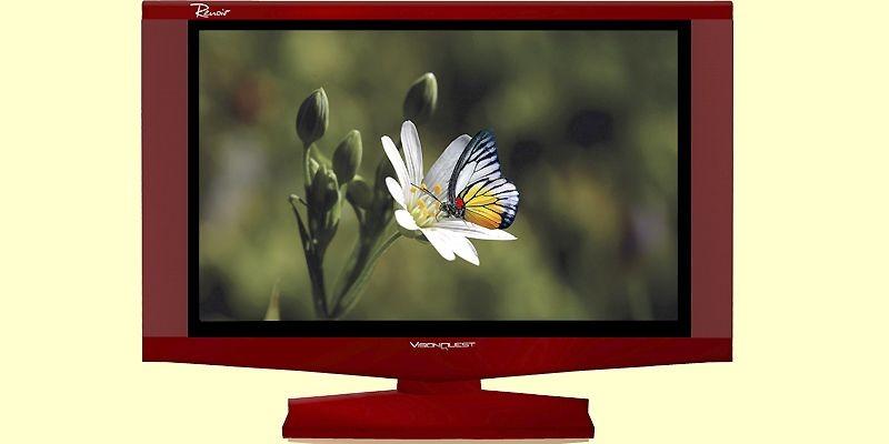 Un téléviseur au cadre rouge de Vision Quest.... (Photo fournie par Vision Quest)