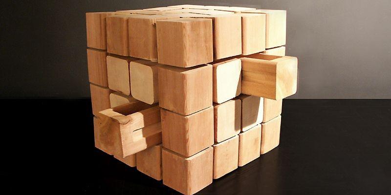 Bois 4, rangement à tiroirs en bois, par...