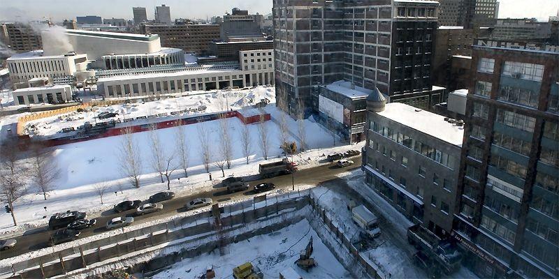 Le nombre de projets immobiliers d'envergure pour l'année... (Photo Patrick Sanfaçon, La Presse)