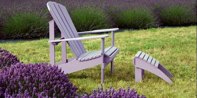 La chaise adirondack symbole de l 39 t mich le laferri re cour - Chaise adirondack france ...
