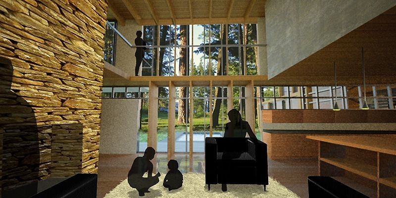 Grâce aux grandes fenêtres et aux intérieurs à... (Illustration fournie par Mühlhausen)