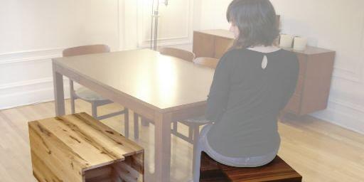 Les deux pièces du meuble Bipolaire s'emboîtent afin... (Photo fournie par Bipède)
