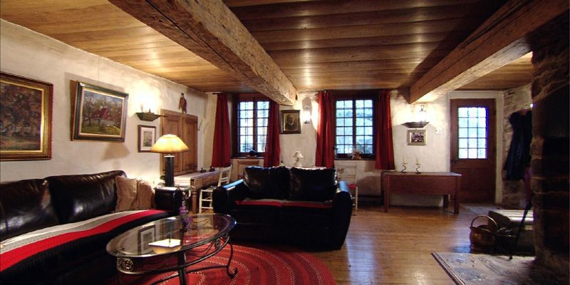 Le grand salon du domaine Gourdeau à l'île... (Photo fournie par ARTV)