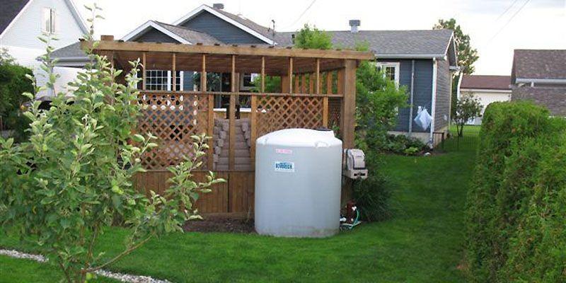 Un réservoir d'eau de pluie fabriqué par Sovotech.... (Photo fournie par Sovotech)