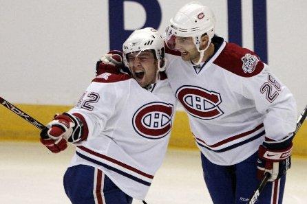 Olivier Latendresse était fou de joie après le... (Photo: Reuters)