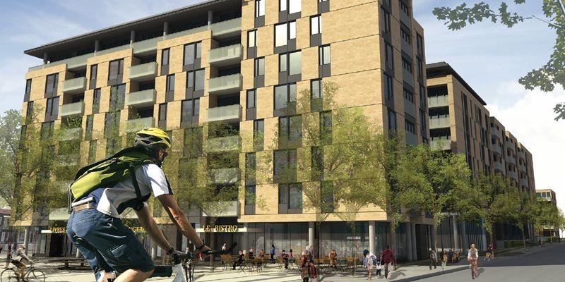 La phase 1 du projet comptera huit étages.... (Photo fournie par le Quartier 54)