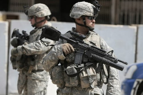 Des soldats américains en Irak... (Photo: AFP)