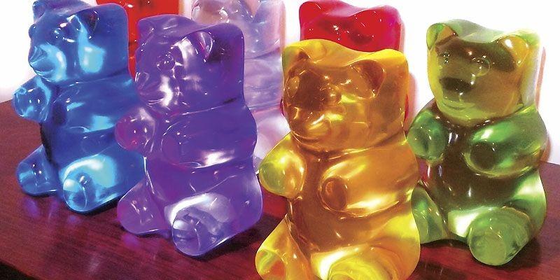 La lampe Gummy Bear, en forme d'ours en... (Photo fournie par Jellio)