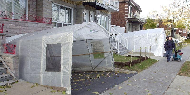 Pour un bon abri, il faut s'attendre à... (Photo Robert Skinner, archives La Presse)
