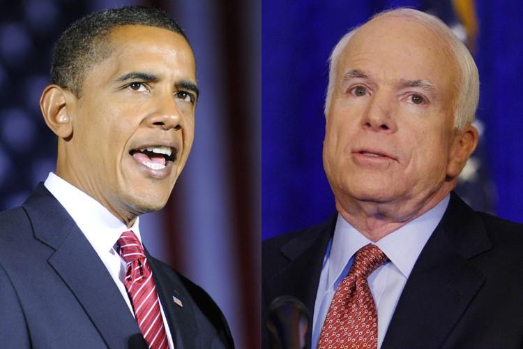 Barack Obama et John McCain... (Photos: AFP)
