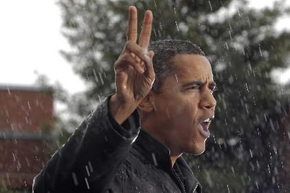 Barack Obama au moment de faire un discours... (Photo: AP)