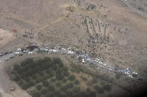 Une vue aérienne d'une zone touchée par le... (Photo: Reuters)
