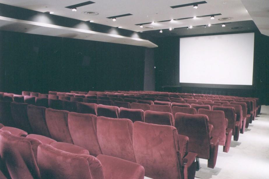 Une salle de cinéma...