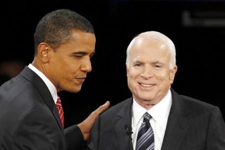 Barack Obama et John McCain... (Photo: AP)
