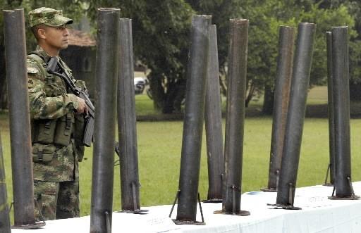 Un soldat colombien... (Photo: Reuters)