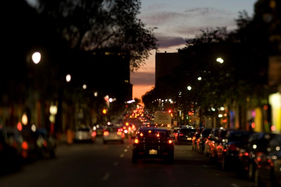 Le boulevard Saint-Laurent à Montréal... (La Presse)